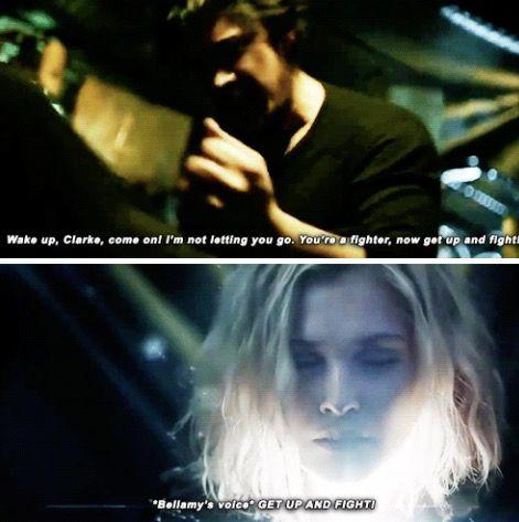 Clarke heard Bellamy's voice and WOKE UP ️   The 100 The ...