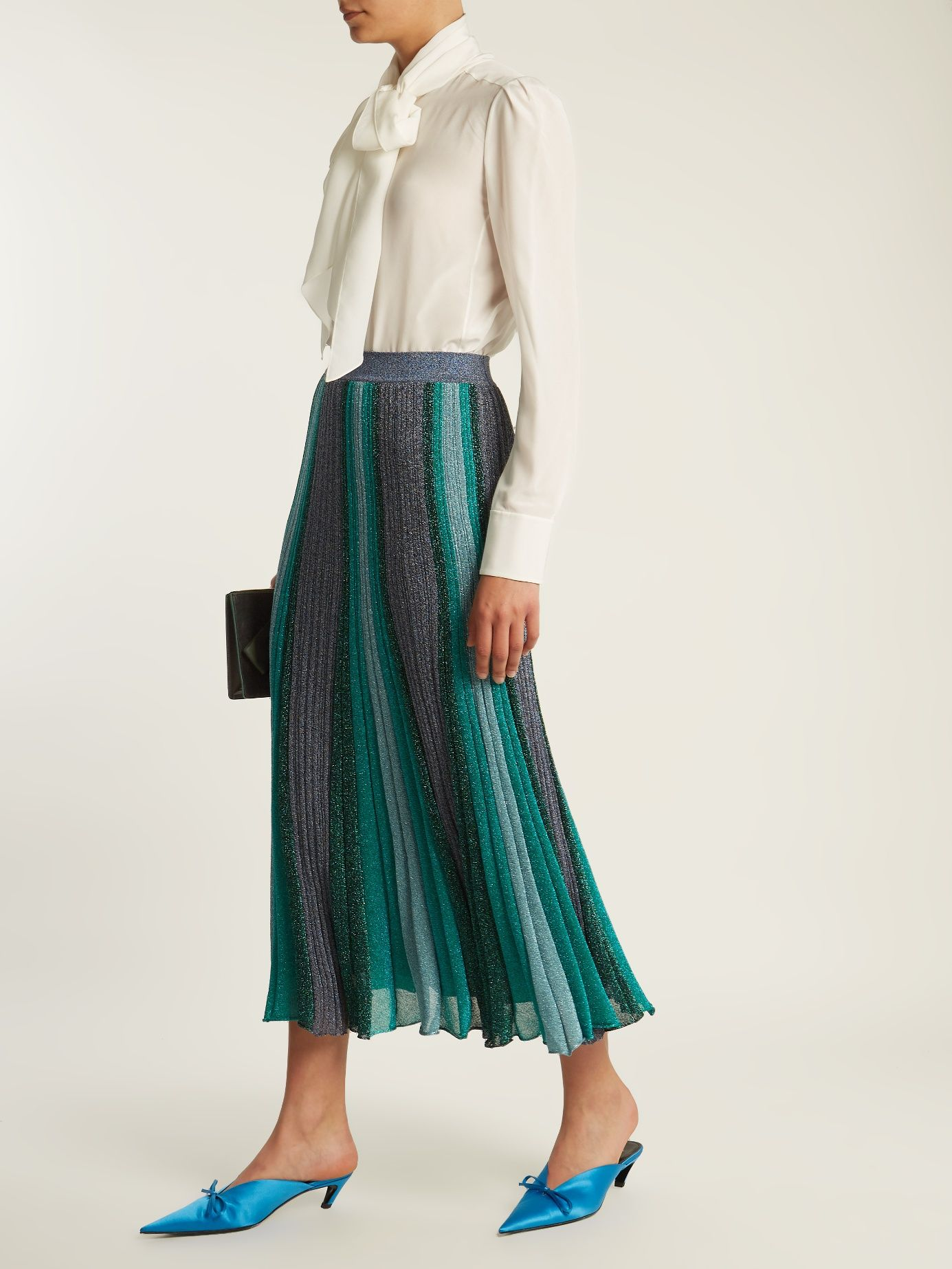 62dd3a694 Click here to buy Missoni Striped pleated knit midi skirt at ...