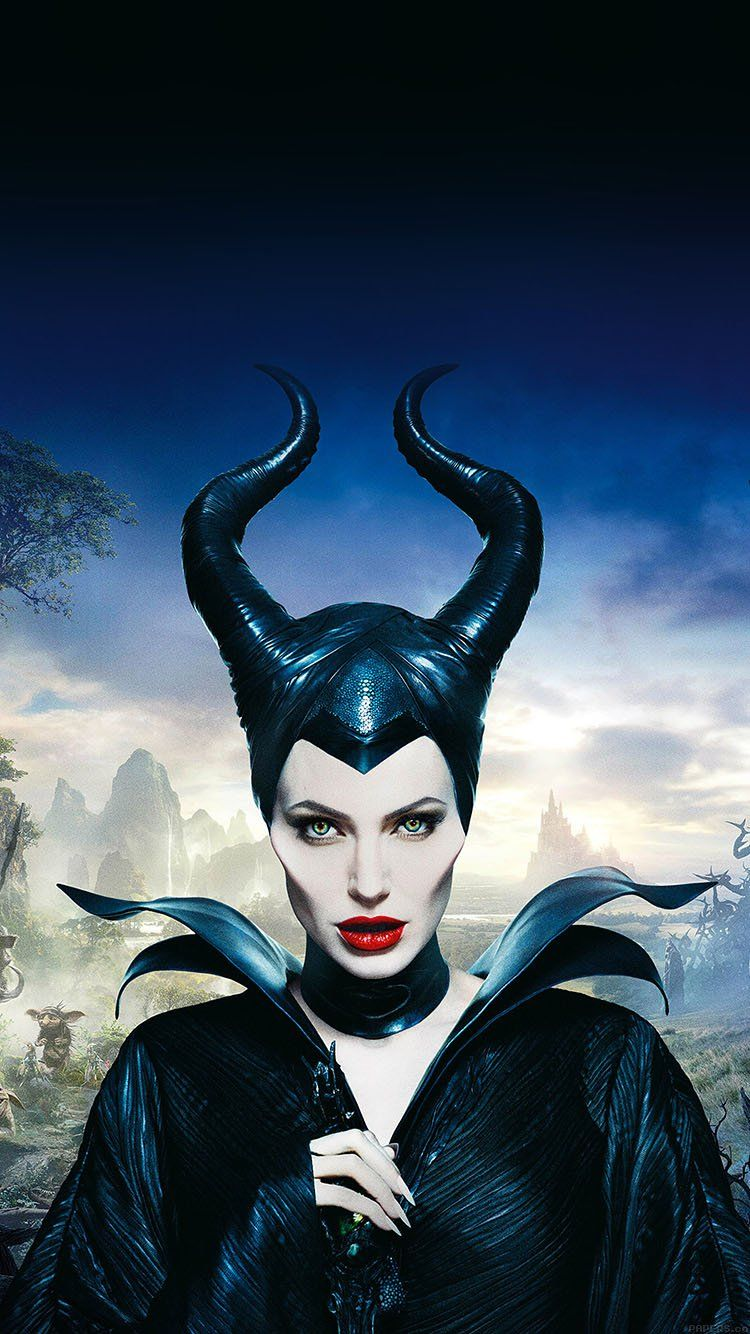 Angelina Jolie Maleficent Poster Disney Face Wallpaper Hd
