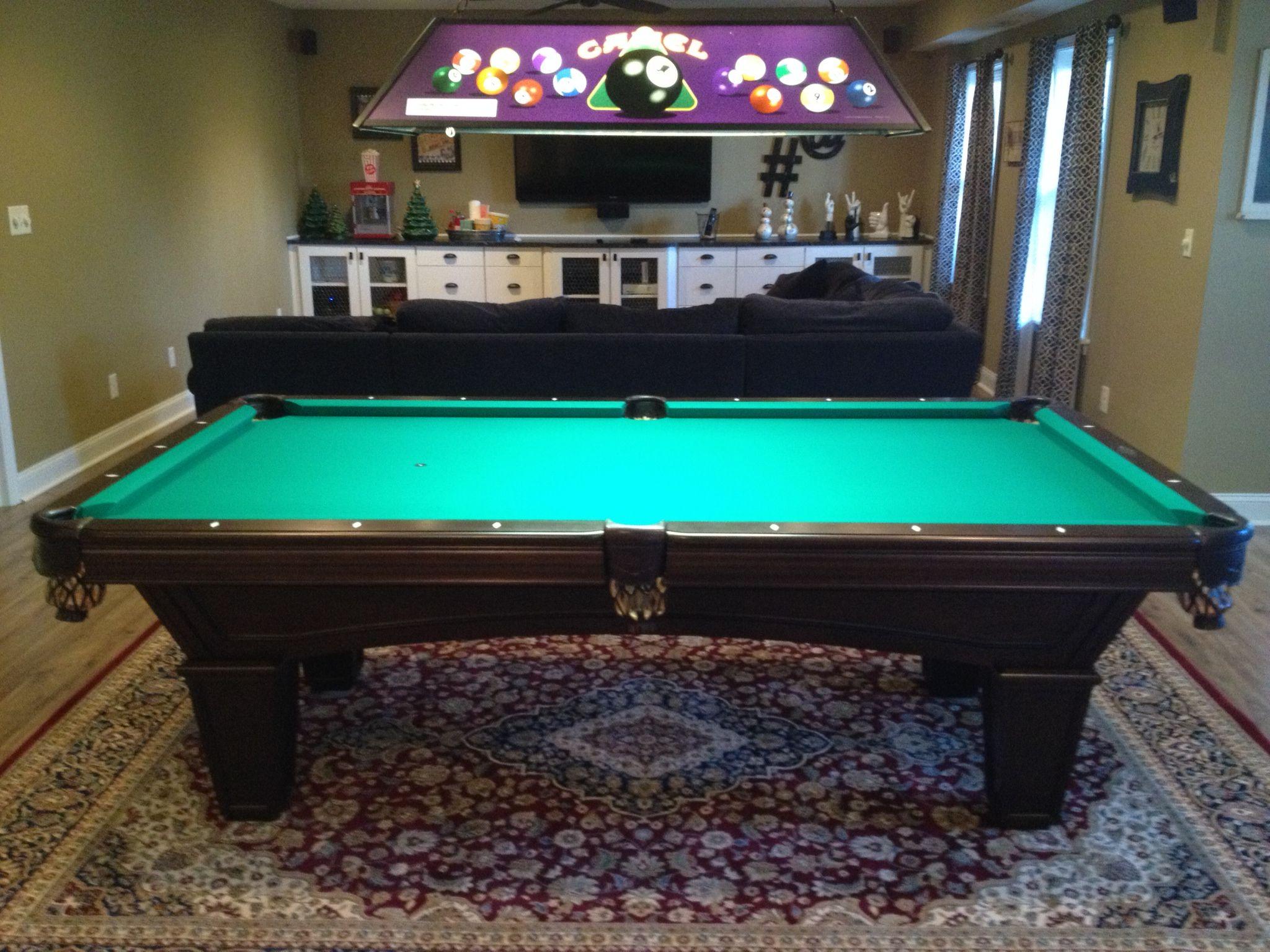 Brunswick Glenwood With Tapered Legs Pool Table Installed By - Brunswick glenwood pool table