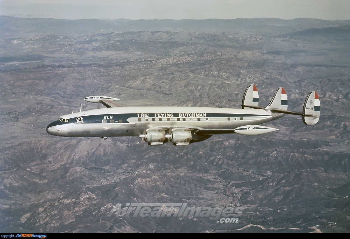 Klm Royal Dutch Airlines Lockheed L 1049g Super Constellation