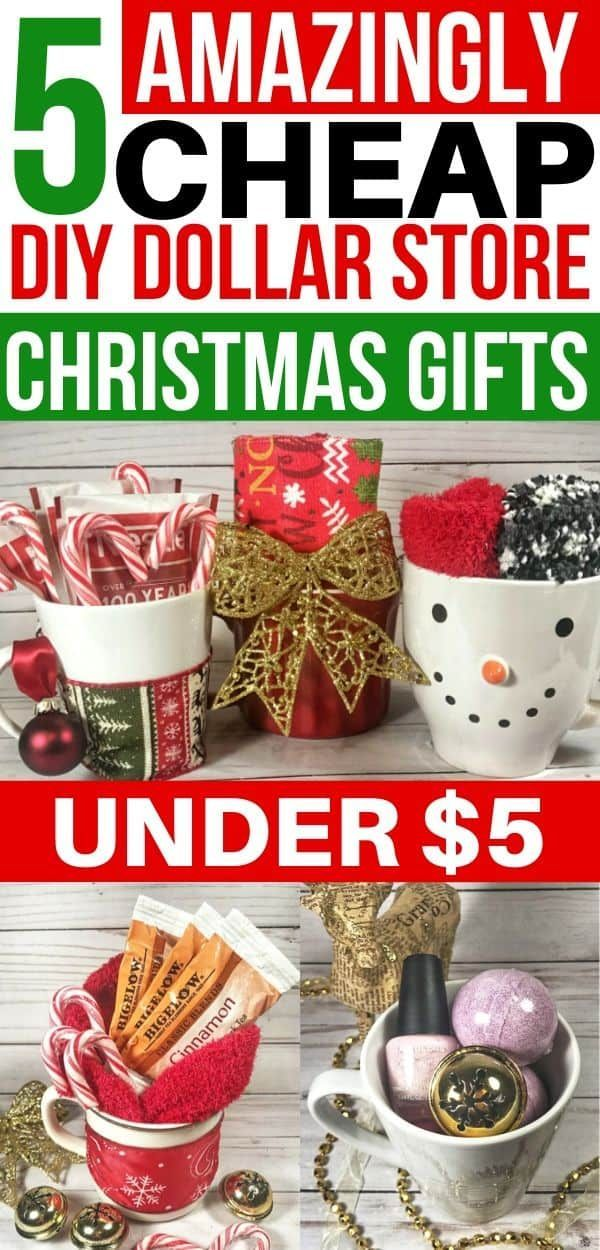 5 Cheap DIY Christmas Gifts From The Dollar Store Under $5