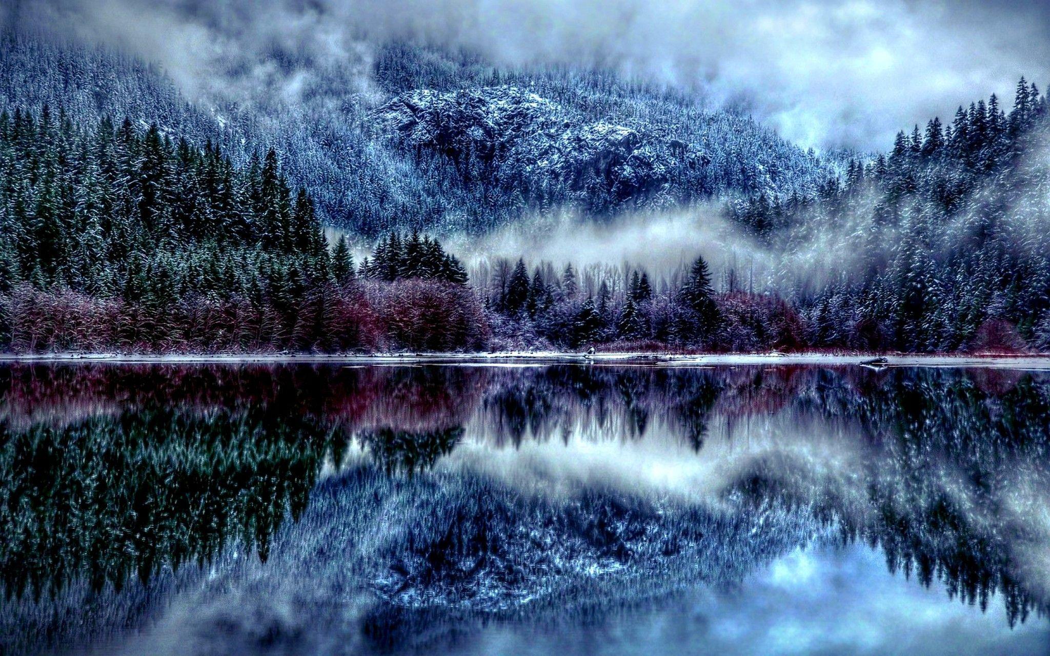 2048x1280 Winter Forest Hd Wallpaper Winter Season Desktop Hd Wallpapers Winter Lake Winter Forest Winter Wallpaper