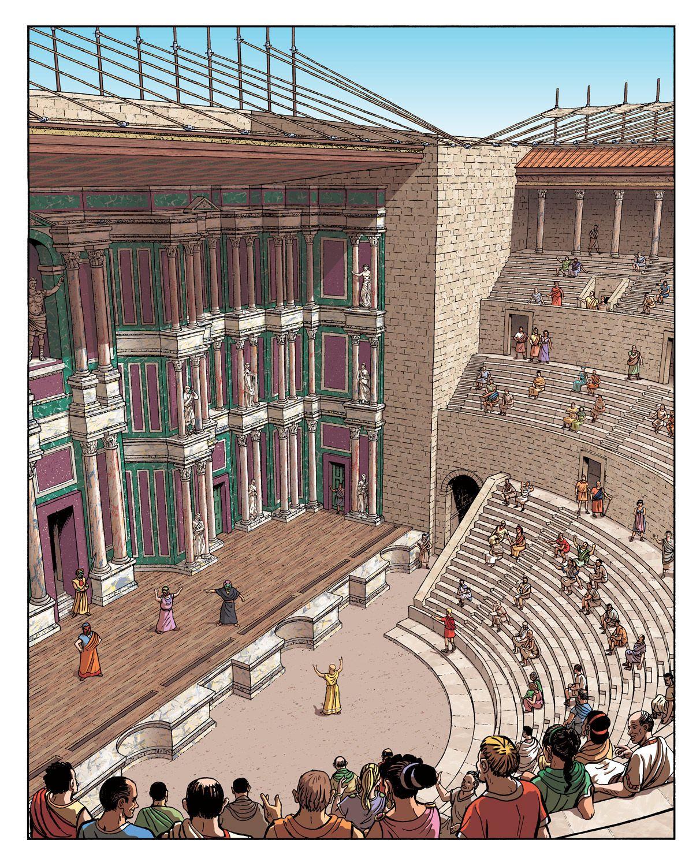Roman Architecture: Provincial Romans Enjoy The Theater At Aquae Sextiae (Aix