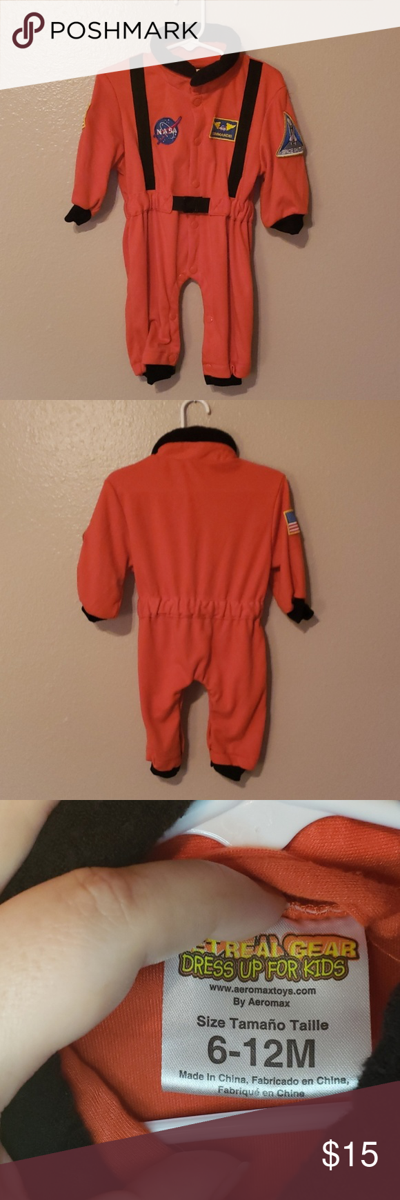 Baby costume Infant 612 month astronaut costume