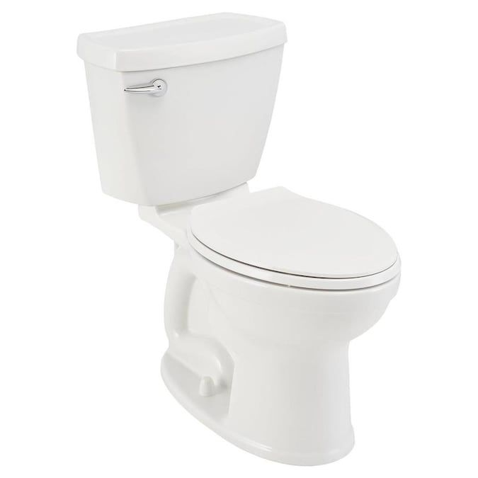 American Standard Champion 4 White Elongated Chair Height 2 Piece Toilet 12 In Rough In Size Ada Compliant Lowes Com In 2020 Chair Height American Standard Toilet Installation