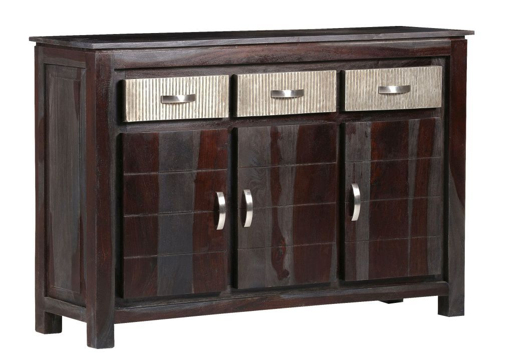 Sideboard Dakota Kolonial Braun Sheesham 130cm Breit Mobel Shop
