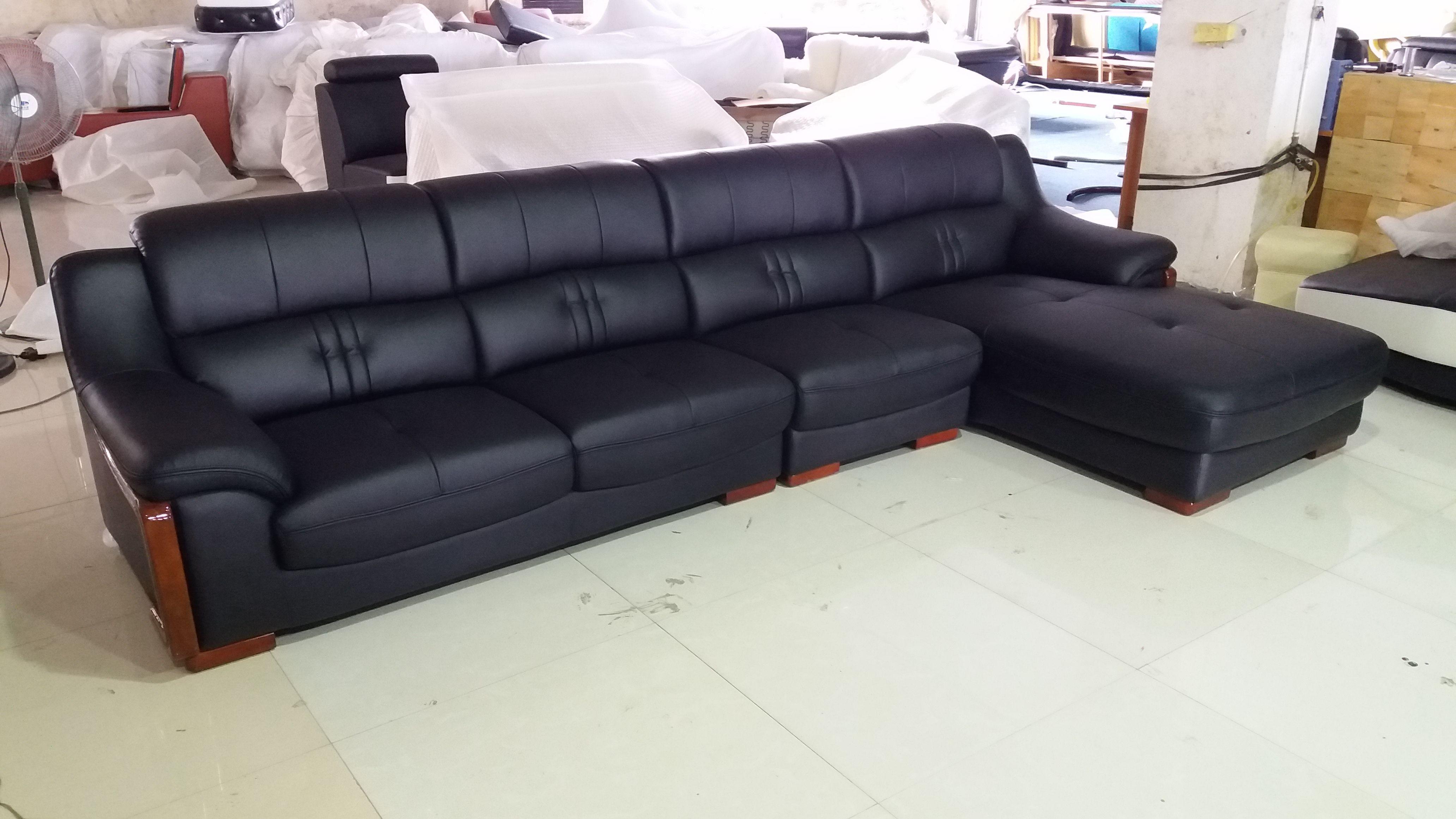 Lz2190 Factory Pic Sofa L Shape Sofa Set Leather Sofa