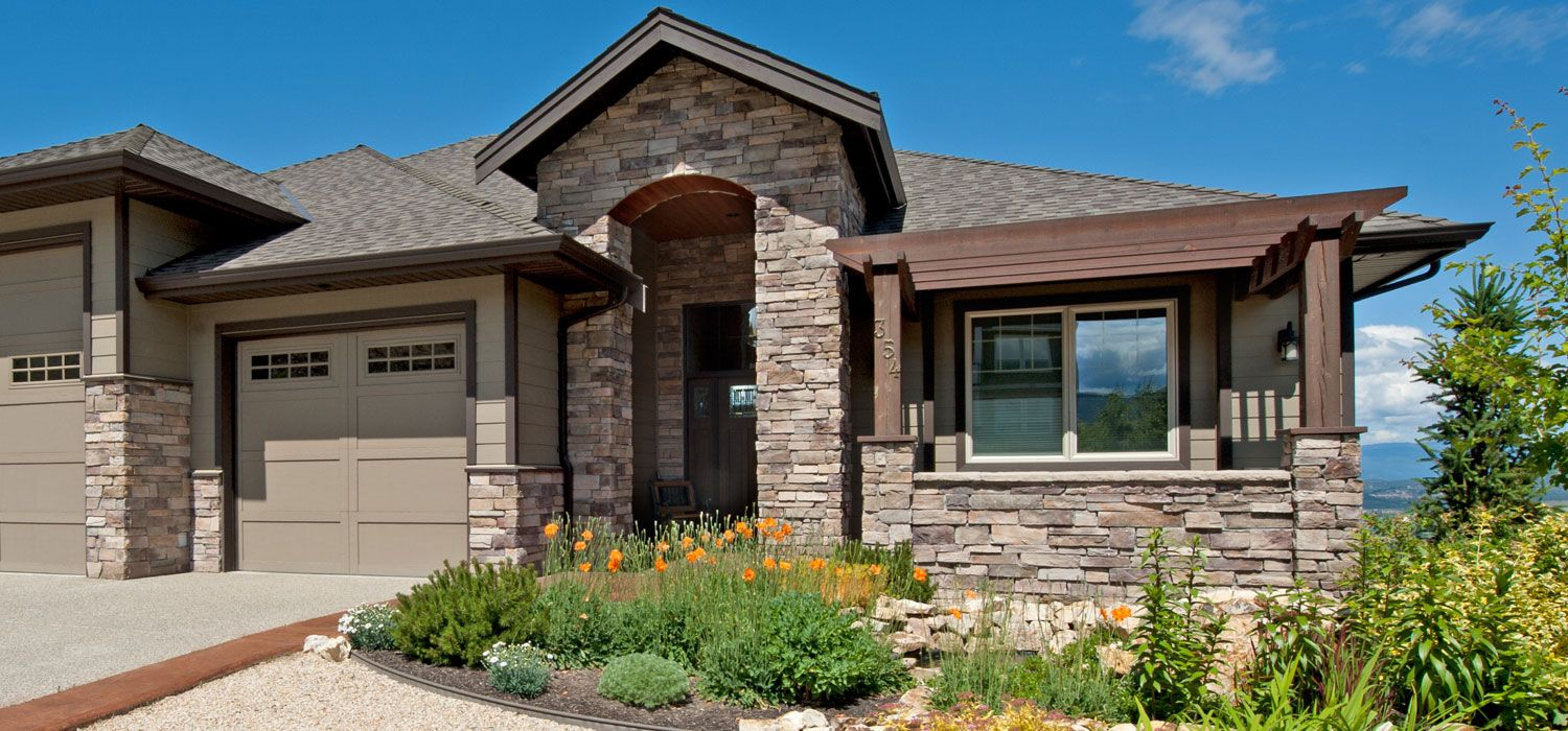 Home exterior entrance bucks county country ledgestone for Exterior ledgestone