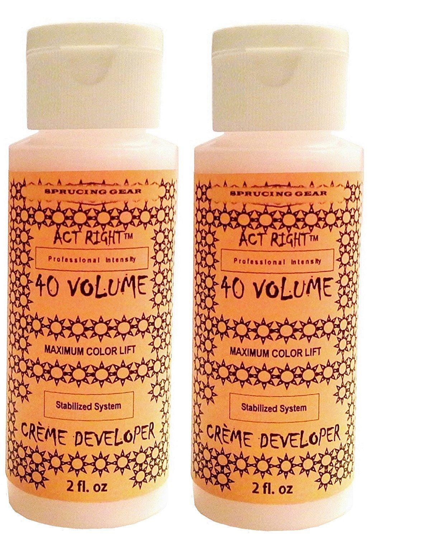 Act Right 40 Volume Maximum Lightening Hair Color Cream Developer 4