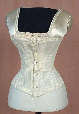white cotton corset c1860  corset fashion century