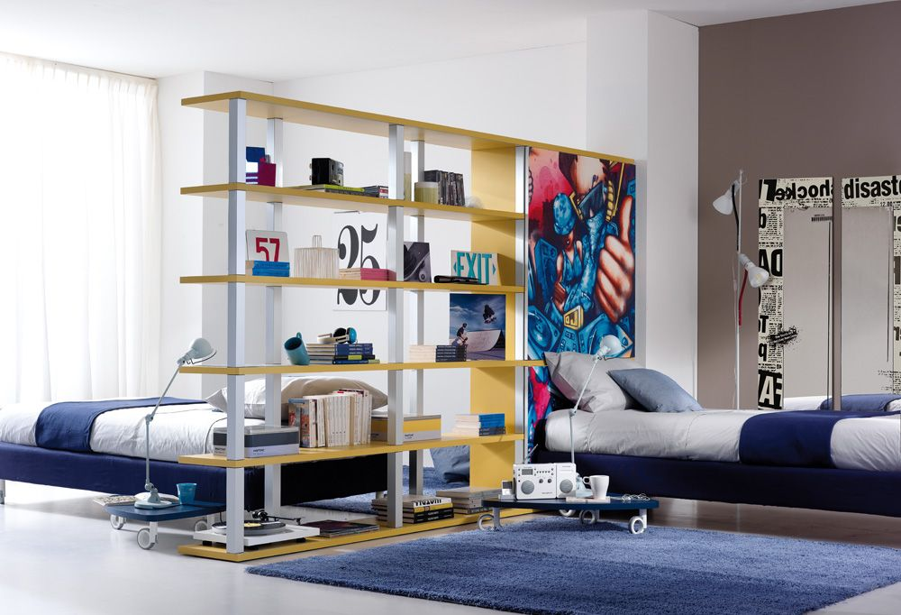 Divide A Large Room Into Two Kid Rooms With Bookcase Expedit