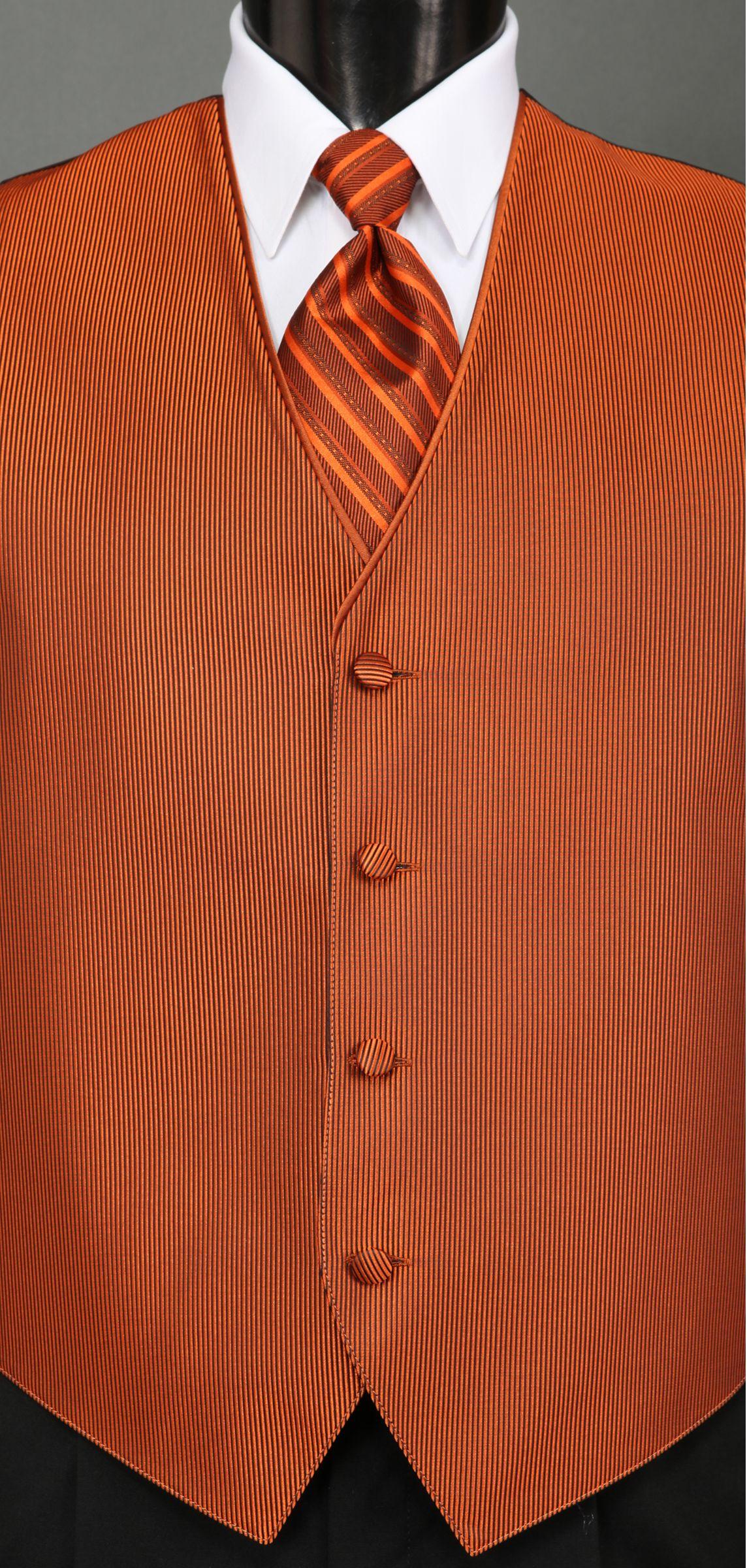 Burnt Orange Color Burnt Orange Vest And Tie [ 2400 x 1144 Pixel ]