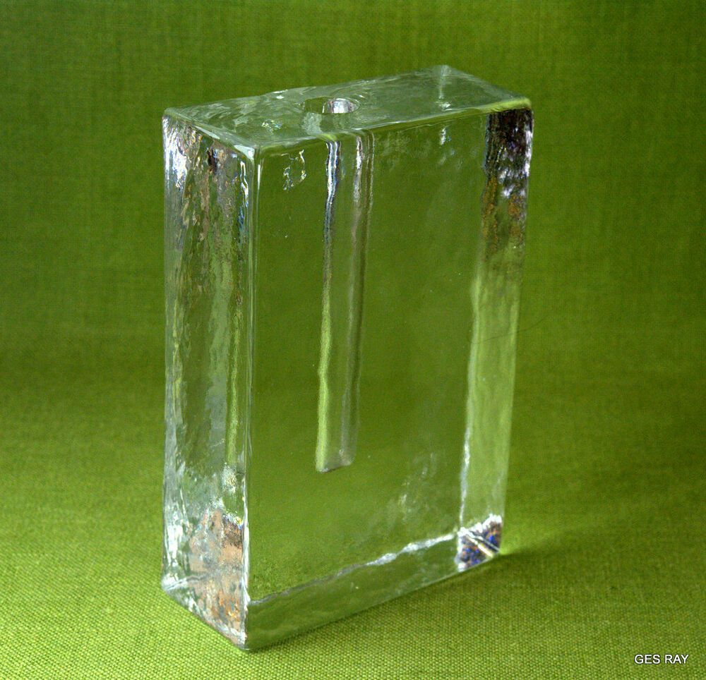 Scandinavian Glass Clear Ice Brick Bud Vase Mid Century Danishmodern Cleariceblock V 2020 G