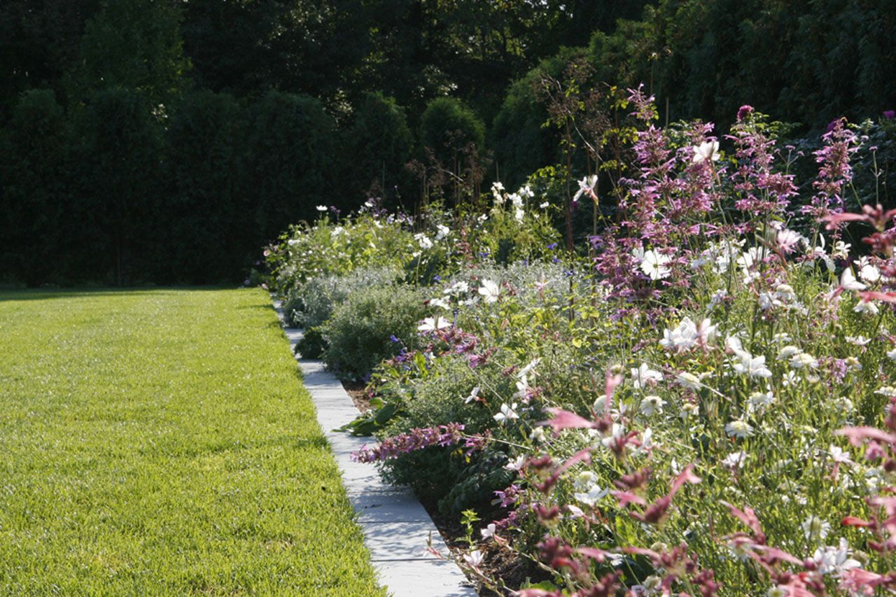Exterior, Amazing Bluestone Garden Edging Ideas Awesome Bluestone Garden  Edging And Combine With Pink Purple Colors Flowersu2026