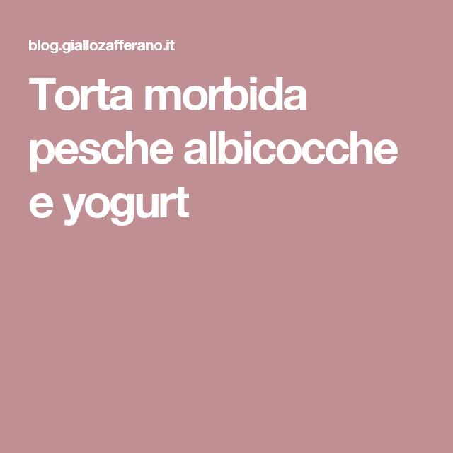 Torta morbida pesche albicocche e yogurt