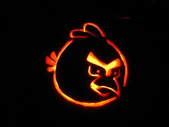 pumpkin template bird  An angry bird at Halloween, surely not? #boden ...
