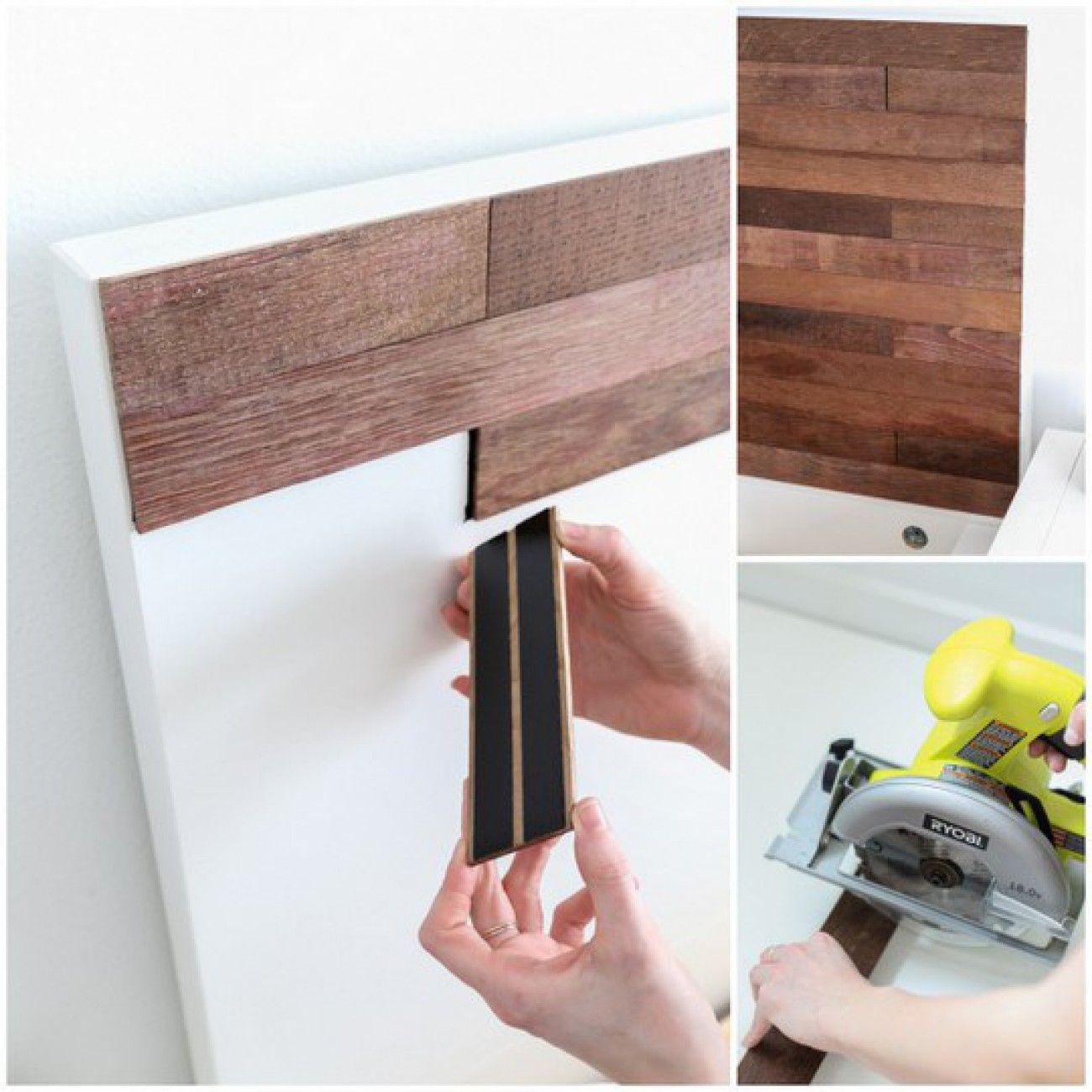 Ein Ikea Malm Bett verschönern mit Holzplatten HOME