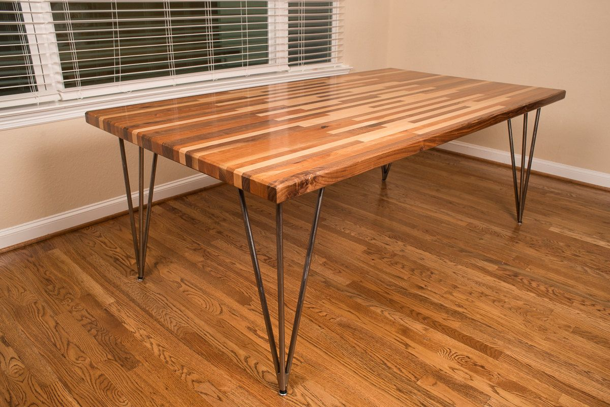 Ikea Butcher Block Table Farmhouse Style Dining Room With