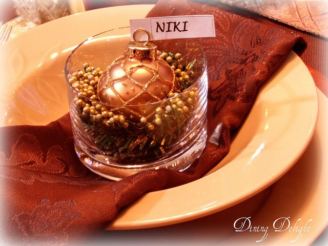 Christmas ball Placecard Holder by dining delight, via Flickr