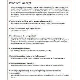 Product Concept Template For Product Owners And Product