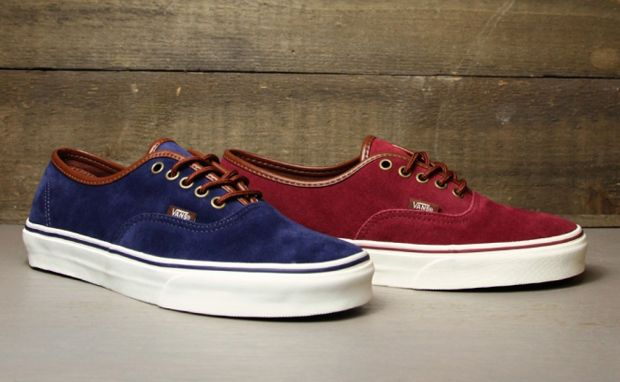 vans authentic suede leather