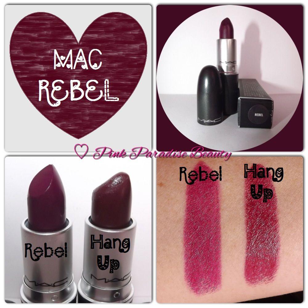 MAC comparison, dark berry colors in Rebel & Hang Up. | make me up ...