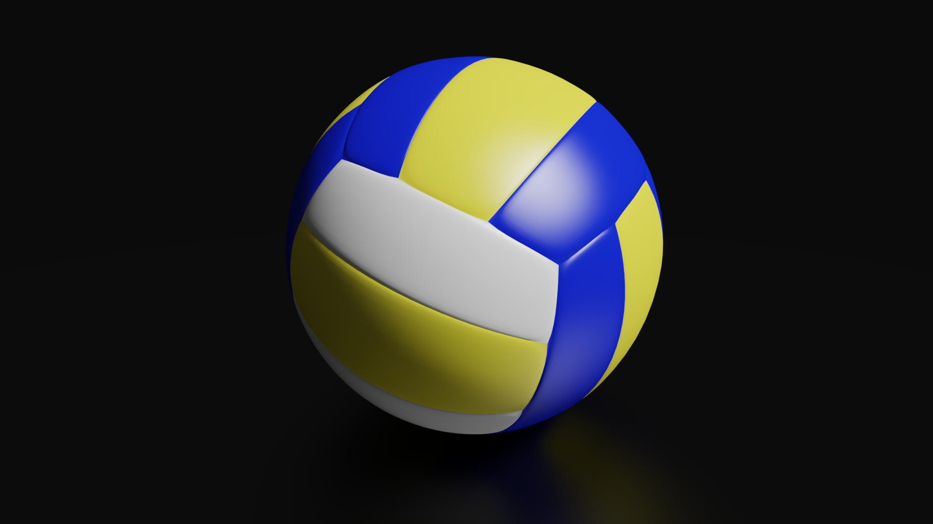 High Detailed Volleyball Ball Ball Volleyball Soccer Ball