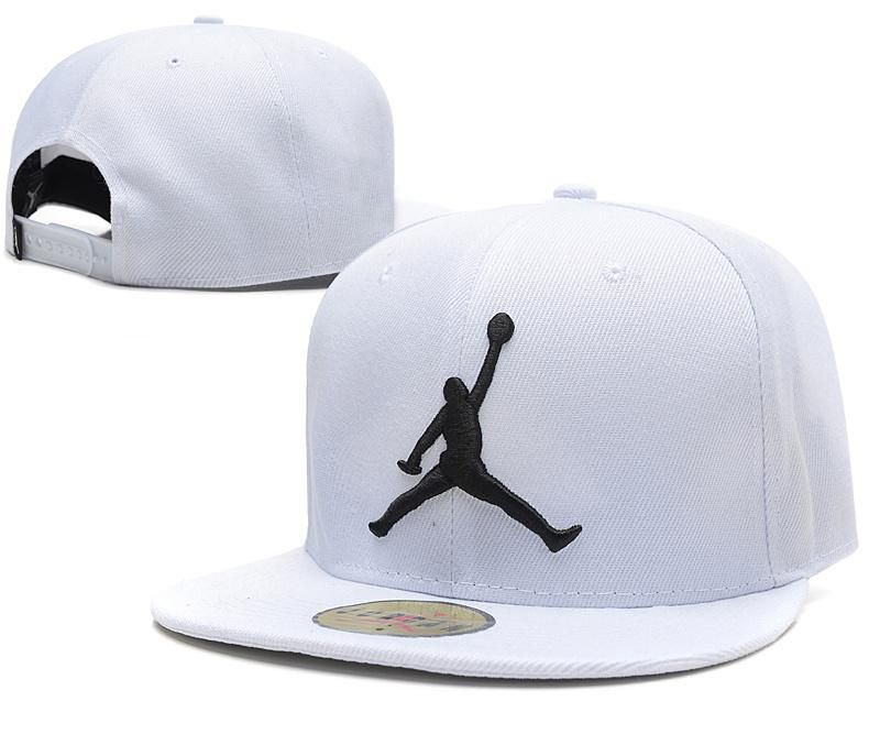 Mens Nike Air Jordan The Jumpman 3D Embroidery Sports Fashion Snapback Hat  - White   Black 366b4a01e2d