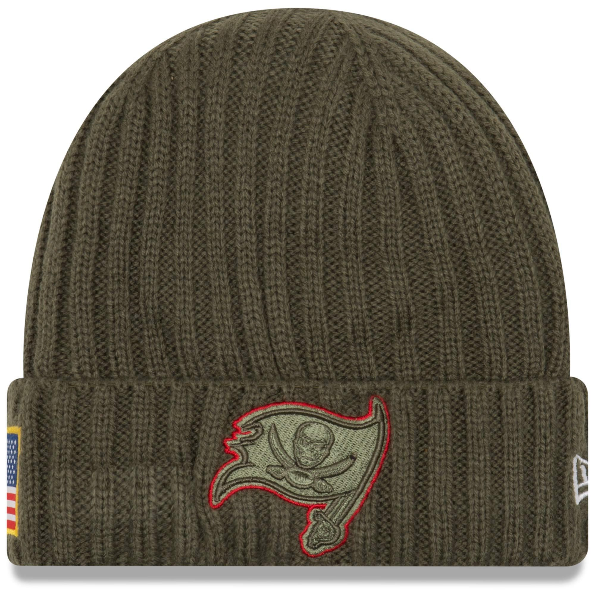 ... where can i buy new era tampa bay buccaneers olive 2017 salute to  service cuffed knit b7e5c99cb