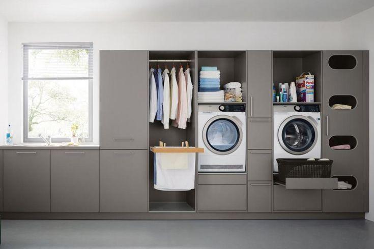 Hauswirtschaftsraum: Möbel und Ideen zum Einrichten: Hauswirtschaftsraum einrichten: Die Zeilen-Lösung - #die #einrichten #Hauswirtschaftsraum #Ideen #Möbel #und #waschmaschine #ZeilenLösung #zum #idéesdemeubles