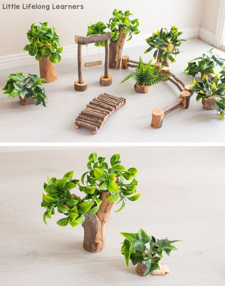 DIY Tree House for Small World Play – Little Lifelong Learners