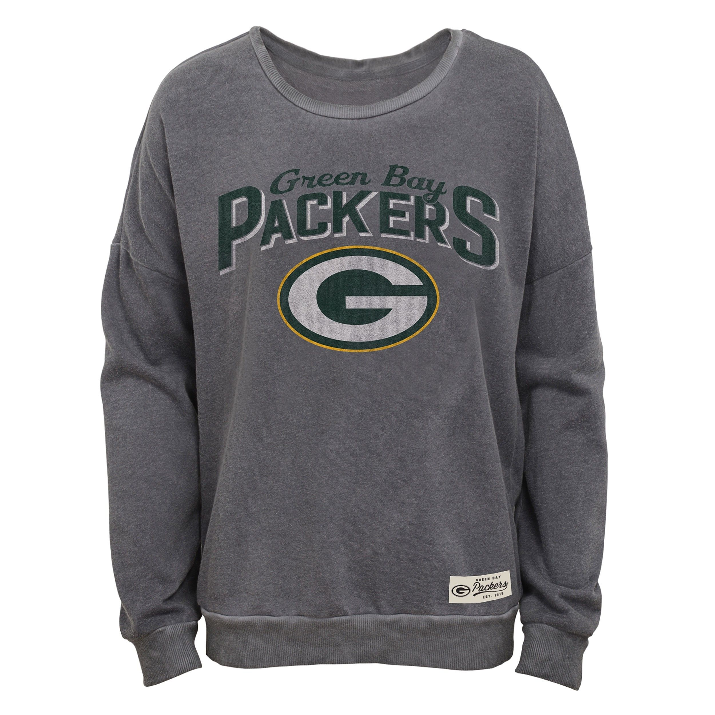 0834923a Packers Girls Homage Mineral Wash Crew | sports | Green Bay Packers ...
