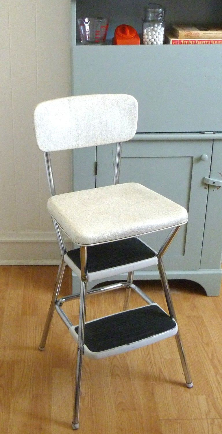 Vtg 1940s Atomic Age Quot Cosco Quot Folding Kitchen Step Stool