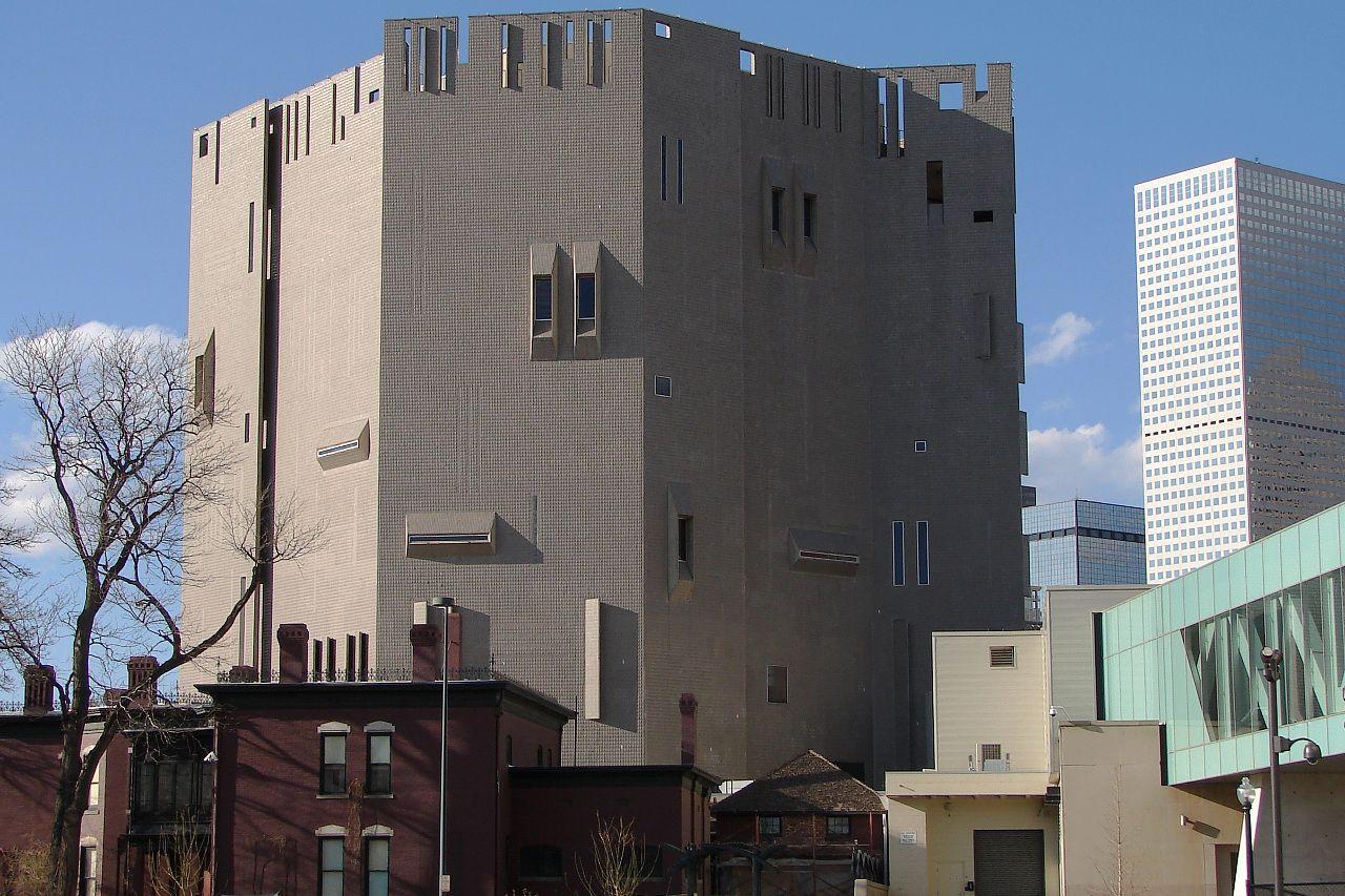 Castle side of the Denver Art Museum. Colorado
