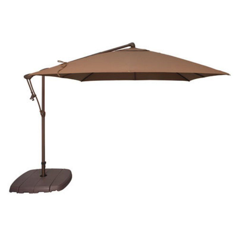 Treasure Garden 8 5 Ft O Bravia Cantilever Patio Umbrella Mocha Ag19sq 00 4825 Patio Umbrella Patio