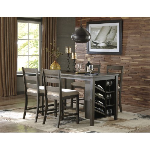 Rokane Brown 3 Piece Dining Room Set Dining Table With Storage