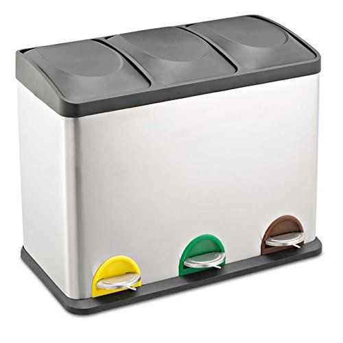 Treteimer Abfalleimer Mülleimer Mülltrennung Edelstahl (4   - schöne mülleimer für die küche