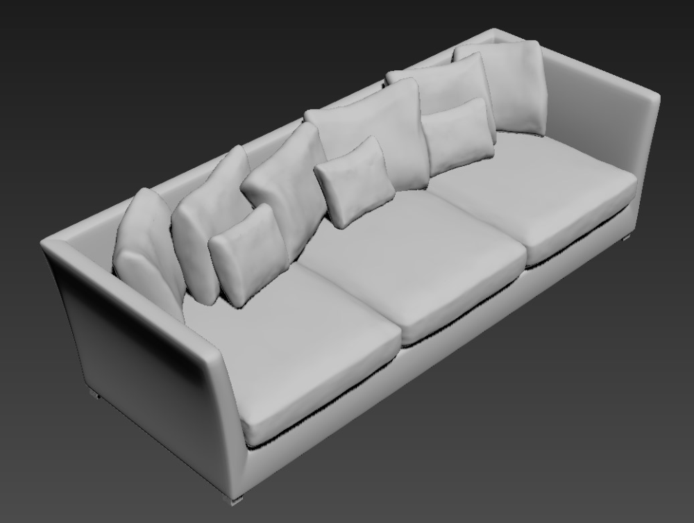 Free Download Three Seater Wooden Sofa 3d Max File Cadbull In