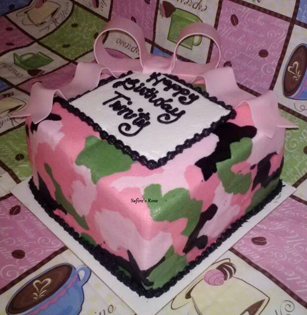 Pink Camo With Images Camo Cakes Pink Camo Cakes Camouflage Cake
