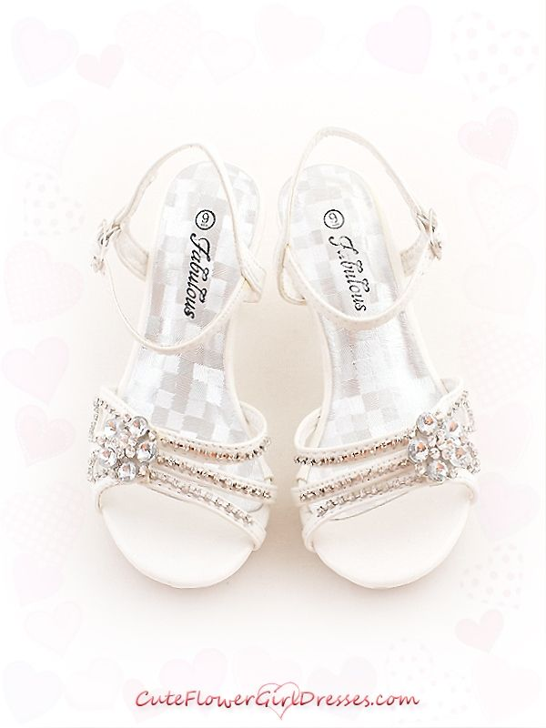 Flower girl shoes heels