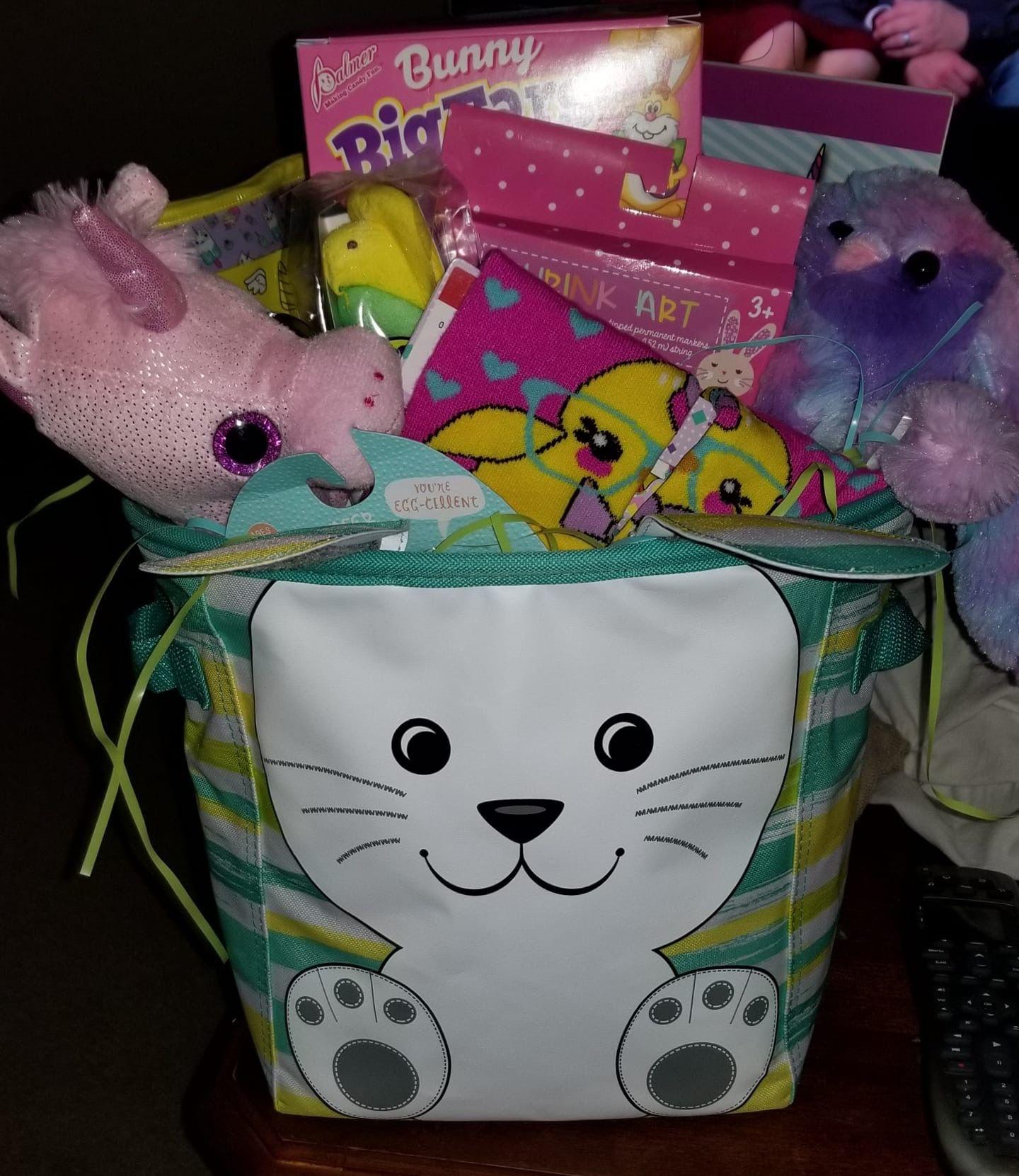 Thirty-One Hippotty Hop Mini Storage Bin New Easter Bunny