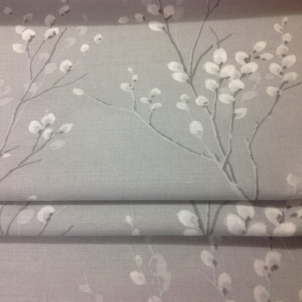 Laura Ashley Made To Measure Roman Blind In Pussy Willow Steel