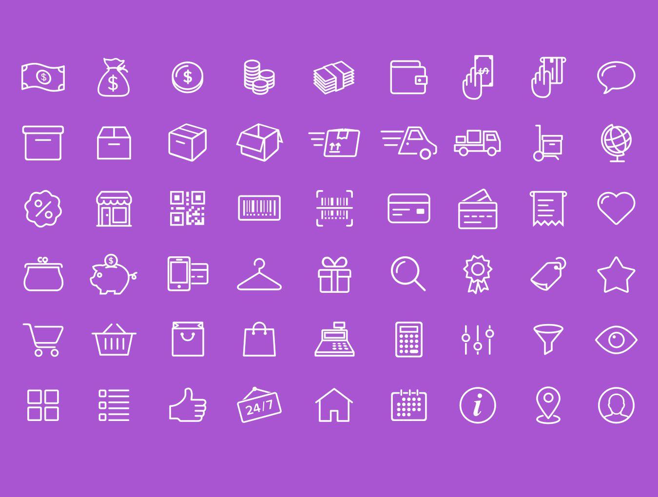Ecommerce Icons Ressources Photoshop