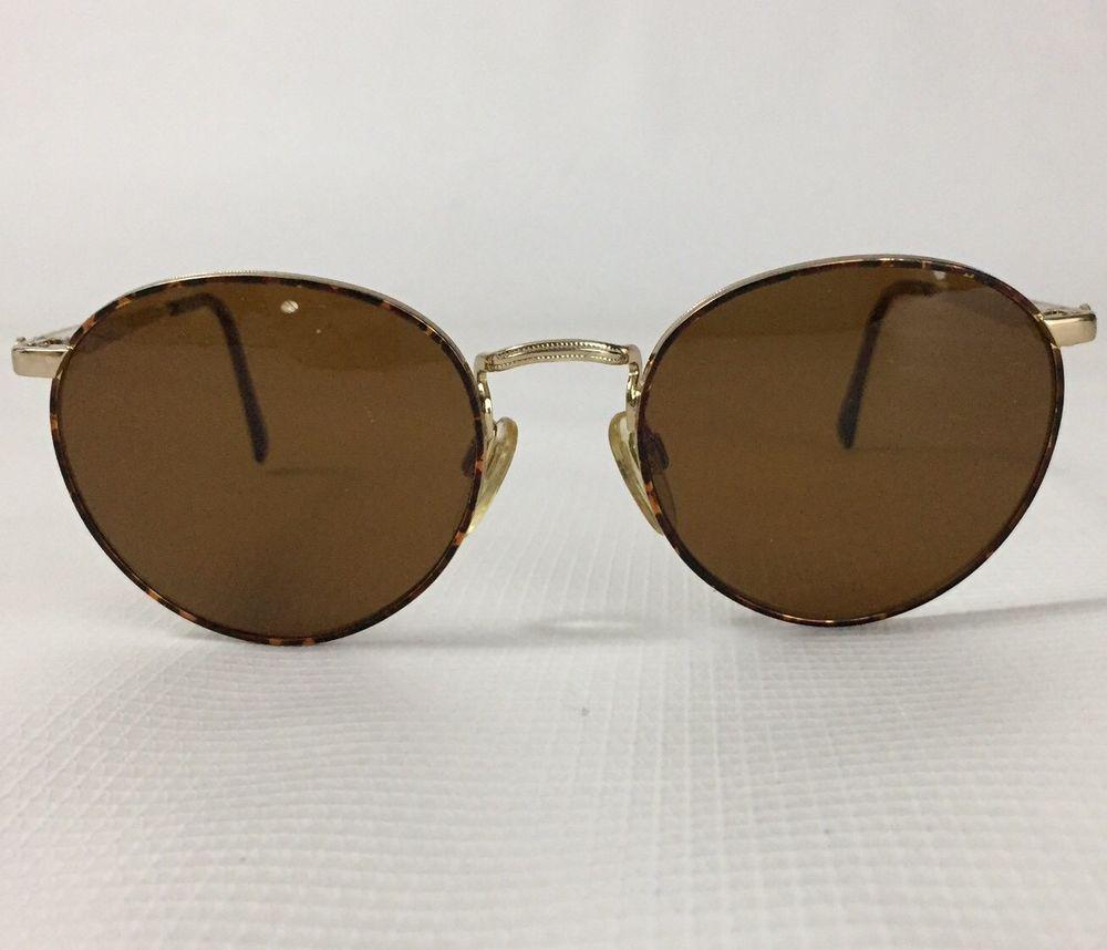 ea430c7044b Sergio Tacchini Vintage Sunglasses Tortoise Goldtone ST1042P T843 52 19  Large