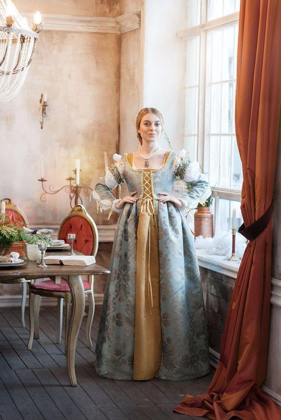 Renaissance Lucrezia Borgia Frau Kleid Set, 15.-16 ...