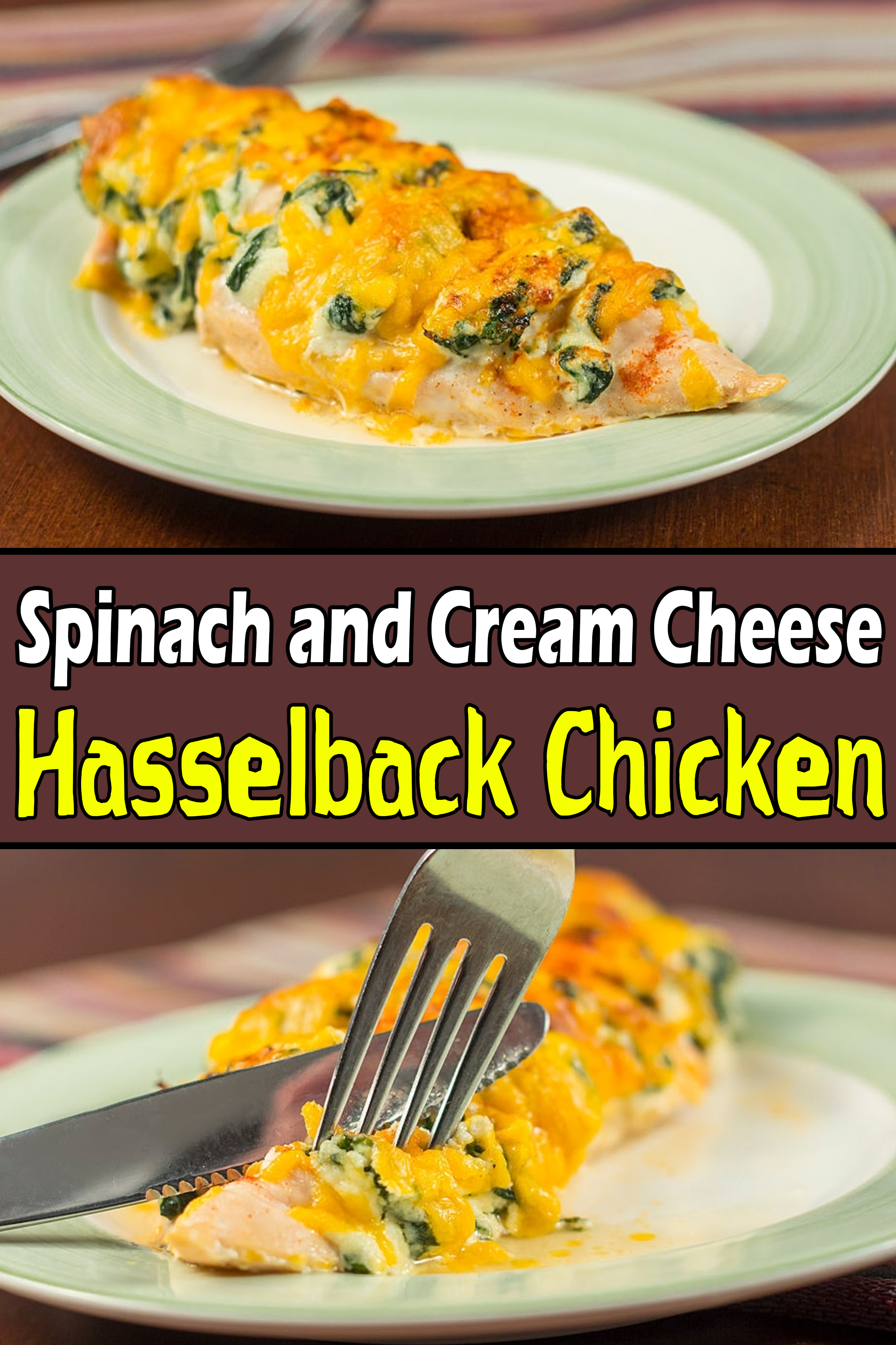Hasselback Chicken Keto Recipe Hasselback Chicken Easy Chicken Recipes Spinach Stuffed Chicken