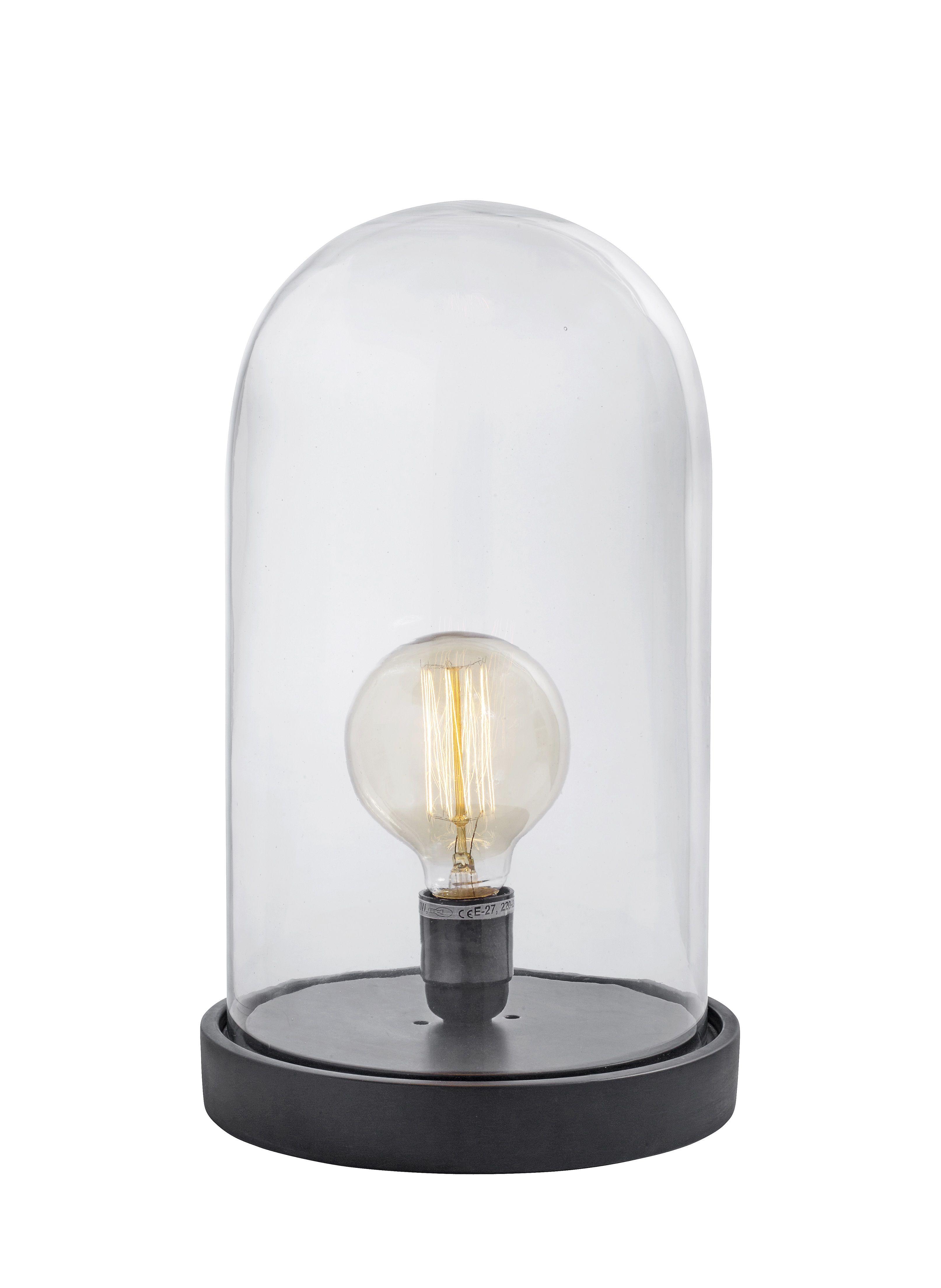 Tischlampe DOME Holz schwarz groß Lampen, Holz