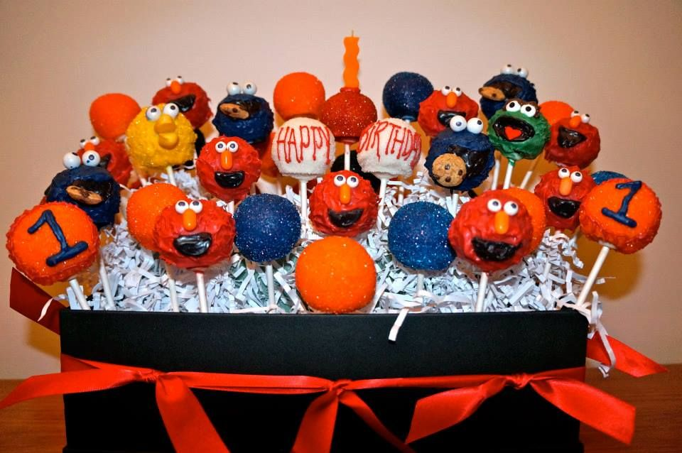 Elmo sesame street cake pops sesame street cake