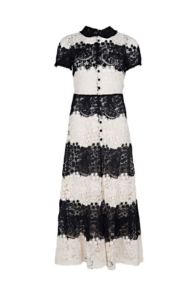 Buy Cheap Find Great New Style ruffle detail longsleeved dress - Black Red Valentino ooOD2n